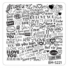 Bundle Monster - Valentine's Day Themed Nail Art Stamping Plates - Occasions Collection, BM-S221: Worldly Love