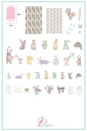 Clear Jelly Stamper - Big Stamping Plate - CJS_H33 - Honey Bunny