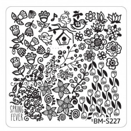 Bundle Monster - Spring Themed Nail Art Stamping Plates - Occasions Collection, BM-S227: Spring Fever
