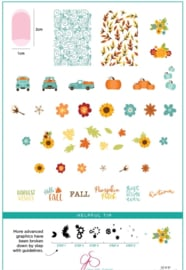 Clear Jelly Stamper - Big Stamping Plate - CJS_LC57 - Talia's Pumpkin Patch