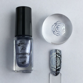 Clear Jelly Stamper Polish - #47 Lilac Ice