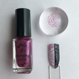 Clear Jelly Stamper Polish - #50 Pretty Me Pink