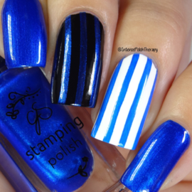 Clear Jelly Stamper Polish - #32 Blue Right on By