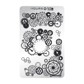 Yours Cosmetics - Stamping Plates - :YOURS Loves Sascha - YLS17. Mechical Madness