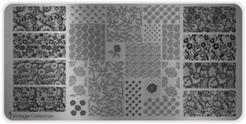 Moyou Nail Fashion - XL Stamping Plate - Vintage Collection - 1