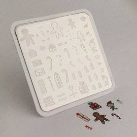 Clear Jelly Stamper Stamping Plate - Santa's Workshop Christmas Plate