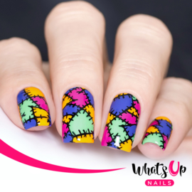 Whats Up Nails - Stamping Plate - B023 Creepin it Real