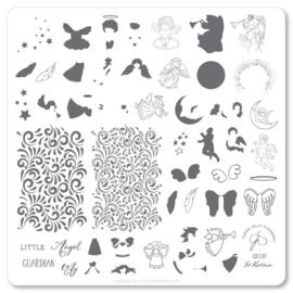 Clear Jelly Stamper - Medium Stamping Plate - CJS_C37 - Angelic