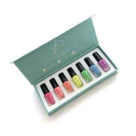 Clear Jelly Stamper - Stamping Polish Kit - Neon (7 Colours)