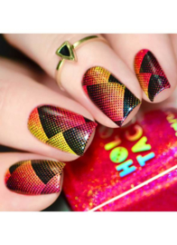 UberChic - Big Nail Stamping Plate - Get the Point