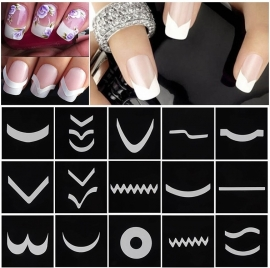 French Nail Tip Manicure Stickers - 24 velletjes