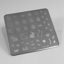 Clear Jelly Stamper - Stamping Plate - CJS_H02 - Peter Cottontails Easter Eggs