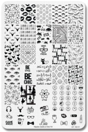 Lina - Stamping Plate - Hipster, Chic or Geek! - 01