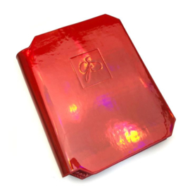 Clear Jelly Stamper - Large Stamping Plate Holder - HoloStunning Crimson