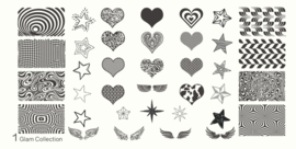 Moyou Nail Fashion - XL Stamping Plate - Glam Collection - 1