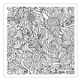 Bundle Monster - Paisley Flow Nail Art Manicure Stamping Plate - Flower Oasis