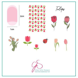 Clear Jelly Stamper - Stamping Plate - CJS_111 Tu Many Tulips