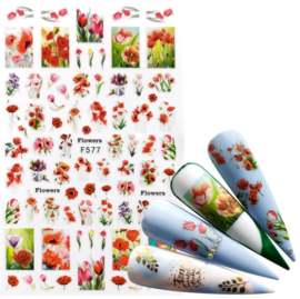 Nailways - Nail Stickers - F577 - Flowers