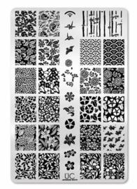 UberChic - Big Nail Stamping Plate - Japanese Motif