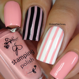 Clear Jelly Stamper Polish - #21 Buble Pop Pink