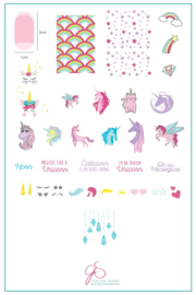 Clear Jelly Stamper - Big Stamping Plate - CJS_LC51 - #AlwaysBeAUnicorn