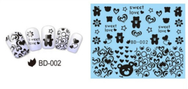 Waterdecals - Love & Bears