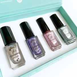 Clear Jelly Stamper - Stamping Polish Kit - Winter Wonderland (4 Colours)