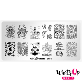 Whats Up Nails - Stamping Plate - B056 Coasting to the Sea