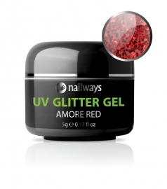 UV GLITTER GEL - Amore Red