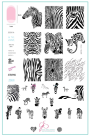 Clear Jelly Stamper - Big Stamping Plate - CJS_175 - Wild Kingdom – Zebra