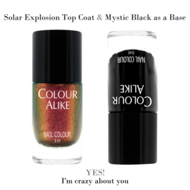 Colour Alike - Nail Polish - Topcoat - 728. Solor Explosion