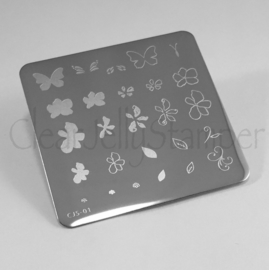 Clear Jelly Stamper - Stamping Plate - CJS_01 - Flower & Butterfly