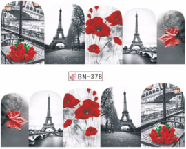Waterdecals - Flowers in Paris - BN378