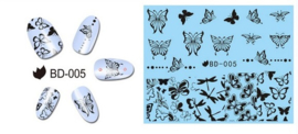 Waterdecals - Black Butterflies