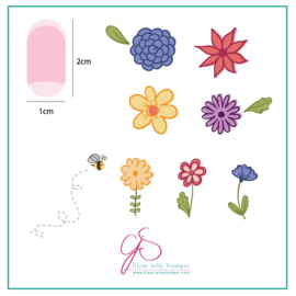 Clear Jelly Stamper -  Stamping Plate - CJS_65 Petals on Point