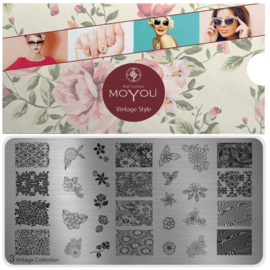 Moyou Nail Fashion - XL Stamping Plate - Vintage Collection - 3