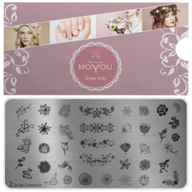 Moyou Nail Fashion - XL Stamping Plate - Bridal Collection - 2