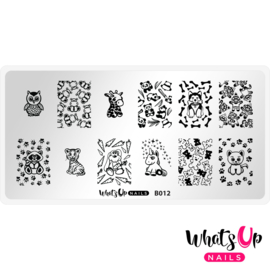 Whats Up Nails - Stamping Plate - B012 Plushie Pals