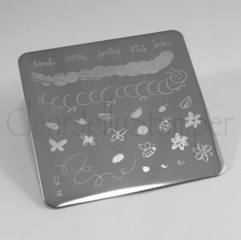 Clear Jelly Stamper - Stamping Plate - CJS_10 - Baby Bugs & Bees