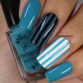 Clear Jelly Stamper Polish - #85 Teal me off the Ceiling