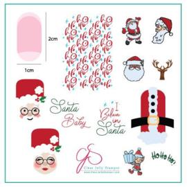 Clear Jelly Stamper - Medium Stamping Plate - CJS_C34 - Classic Santa