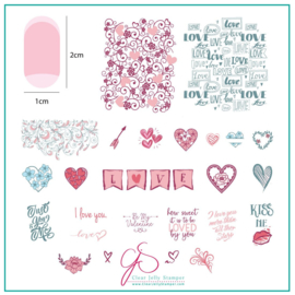 Clear Jelly Stamper - Medium Stamping Plate - CJS_V28 - How Sweet it is to be Loved by You