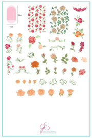 Clear Jelly Stamper - Big Stamping Plate - CJS_92 - All is Rose -y