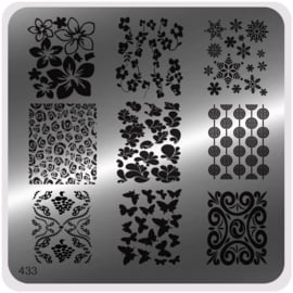 Moyou Nail Fashion - Stamping Plate - Glam Style - 433