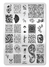 UberChic -  Big Nail Stamping Plate - The Far East - 01