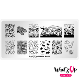 Whats Up Nails - Stamping Plate - B055 - Stampasaurus