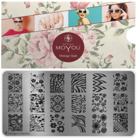 Moyou Nail Fashion - XL Stamping Plate - Vintage Collection - 4