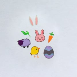 Clear Jelly Stamper - Stamping Plate - CJS_H07 - Easter 2