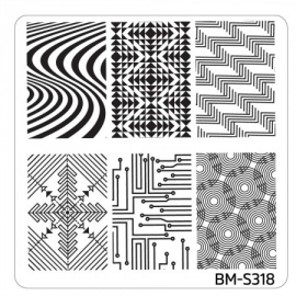 Bundle Monster - Musik City Nail Art Manicure Stamping Plate - BM-S318: Raver's Eyesight
