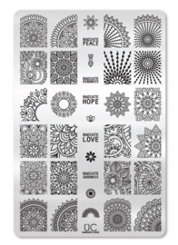 UberChic - Big Nail Stamping Plate -  Radiate Love